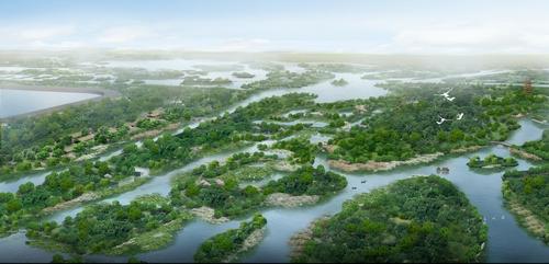 济西家湿地公园规划图