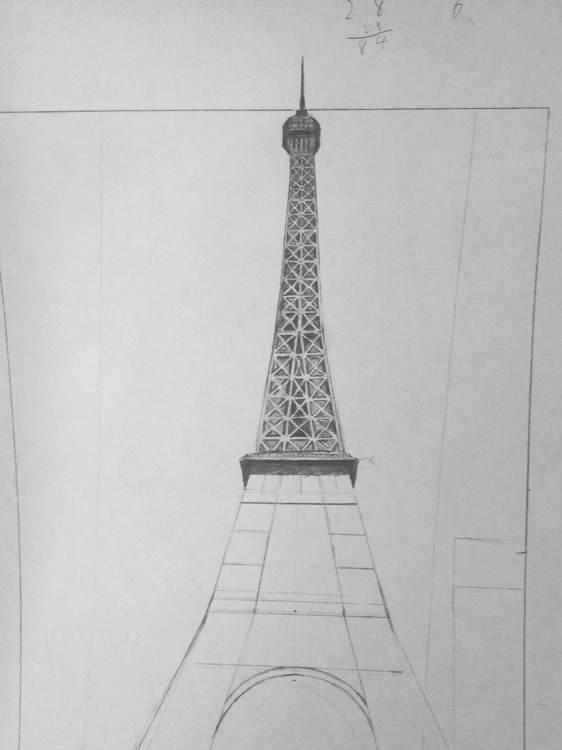 埃菲尔铁塔 铅笔画 埃菲尔吧 百度贴吧