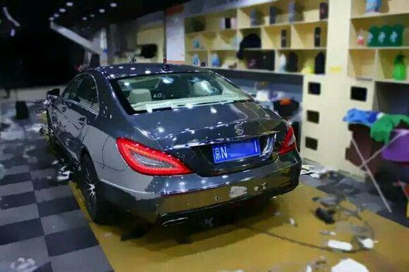 奔驰cls300电镀钨钢改装案例 北京汽车美容吧 百度贴吧高清图片