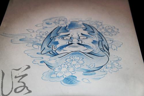 纹身手稿素材图片