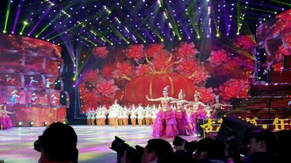 安徽卫视春晚现场拍摄图片