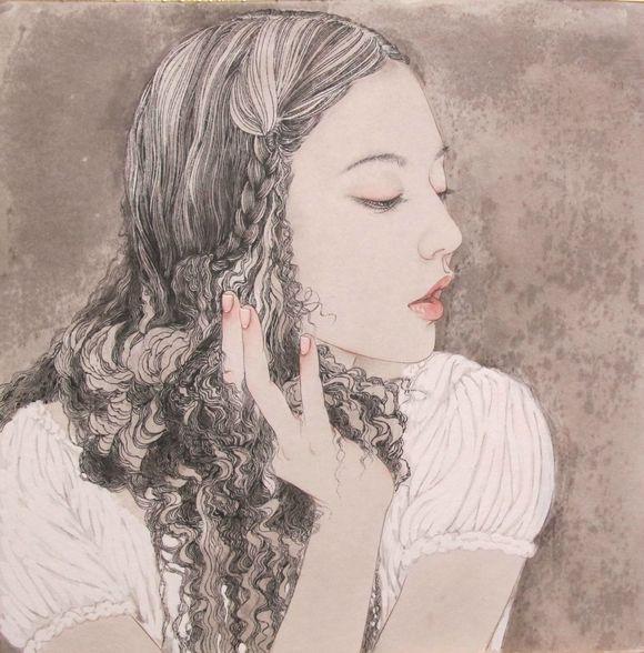 美女画家罗寒蕾