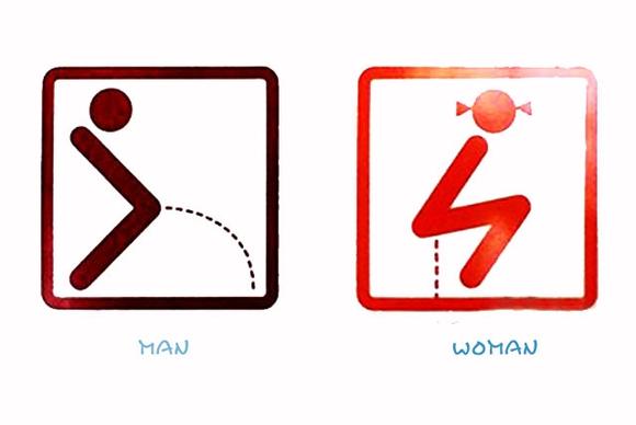 厕所创意标识吧……厕所标志也可以这样有创意【图】▁▂▃高清图片
