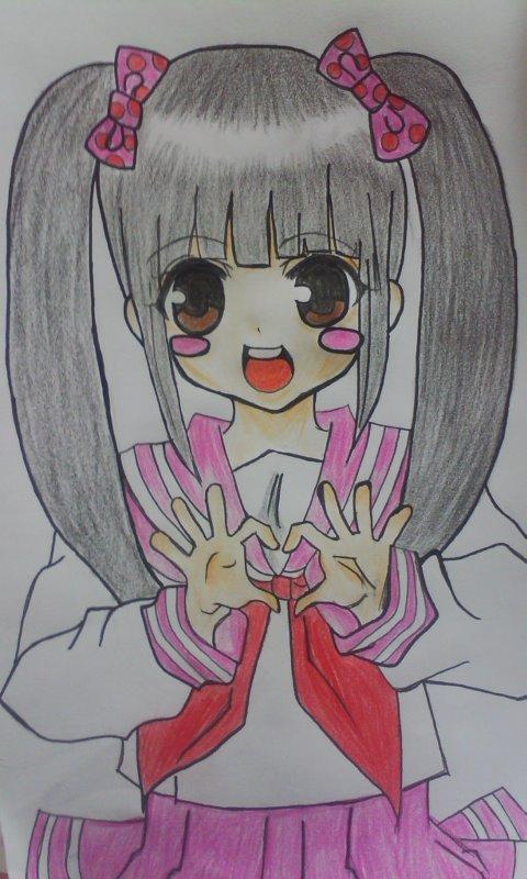 日本美少女组合akb48的漫画风 竖