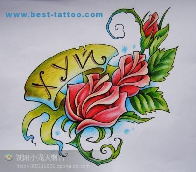 玫瑰手稿_重庆纹身吧_百度贴吧图片