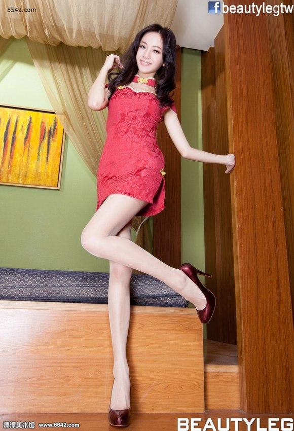 香艳旗袍高跟美女anita