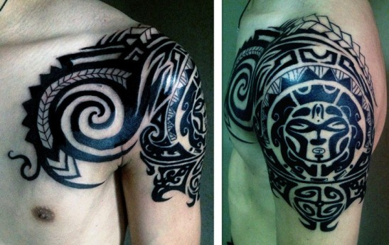 求助~大神们谁有玛雅图腾半胛的纹身图啊!图片