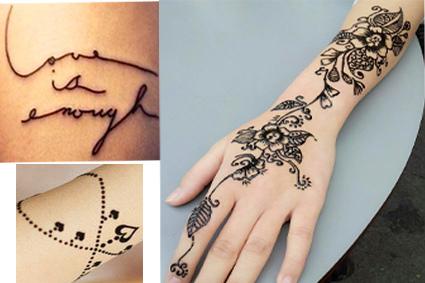 关于移通门前的海娜纹身图片