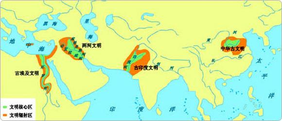 5000年前的古代文明分布图图片