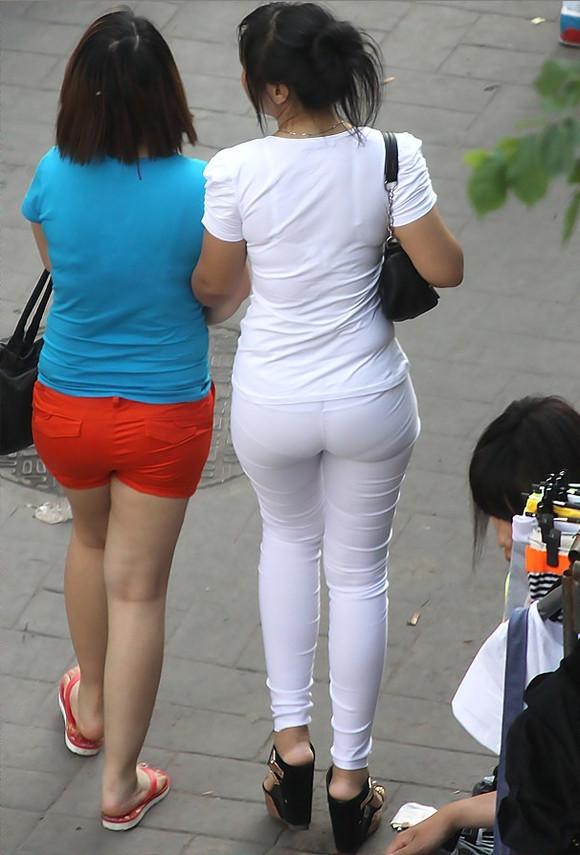 【叁思丝图】真实街拍美女牛仔裤