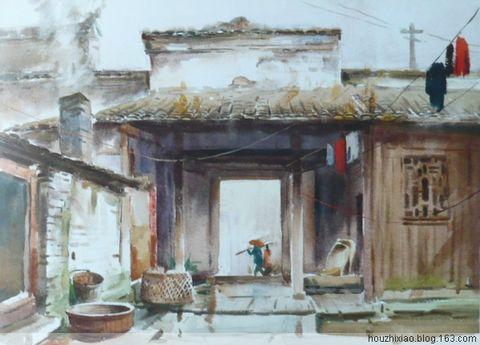 陈飞虎建筑风景水彩画——适合初学者练习的水彩图片
