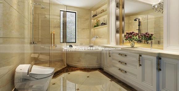 欧式风格卫生间装修效果图打造时尚卫浴空间图片
