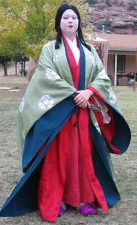 一些欧美人自制的古代日本服装图片