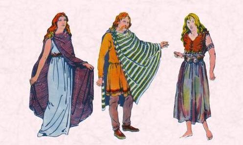 和汉服很像的爱尔兰古代服饰?图片