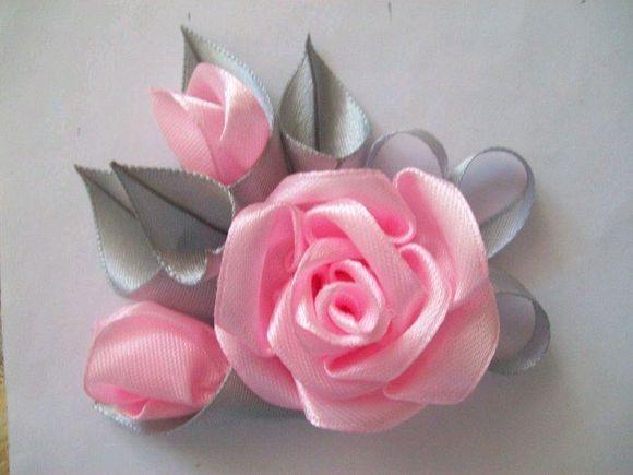 Цветок бант своими руками