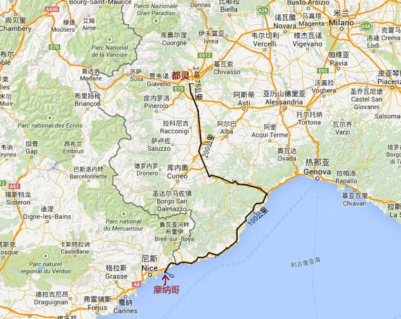 用谷歌地图测量了一