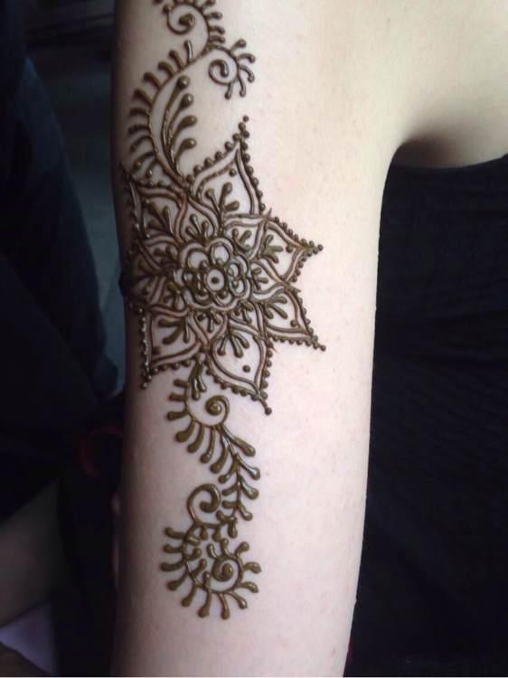 成都海娜手绘纹身.想要感受一次性纹身的亲.有福啦!图片