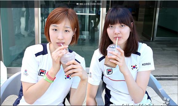 我觉得这个韩国女排球员比较接近中国古典美女审美