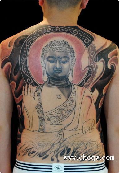 名刺纹身作品地藏菩萨图片高清图片