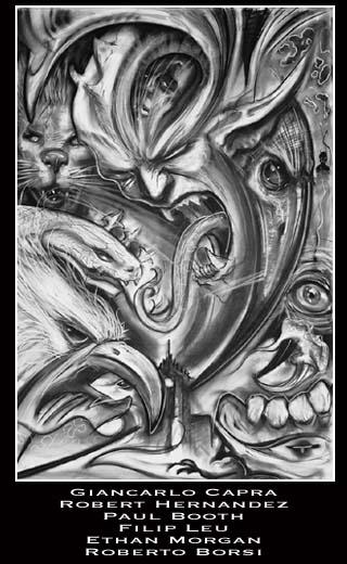 发点国外的手稿和图案 (320x520)-满背观音纹身图图片