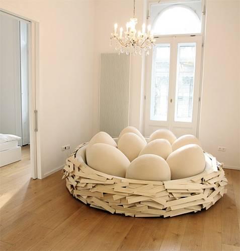 左凡创意家具# 别具一格的鸟巢床设计图片