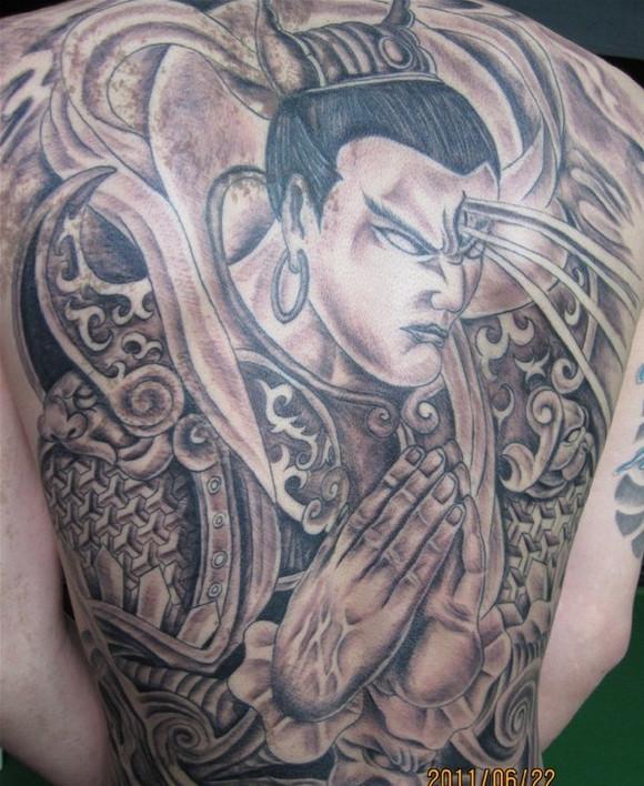 二郎神图_纹身吧_百度贴吧图片