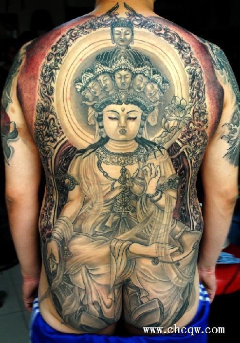地藏王菩萨纹身手稿图片
