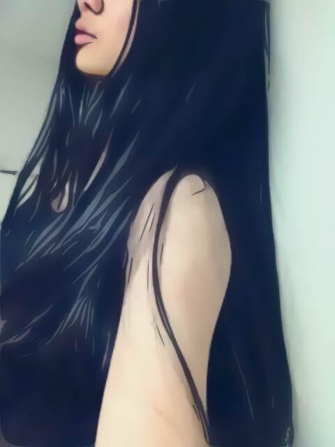 长发背影女孩 长发头像吧 竖