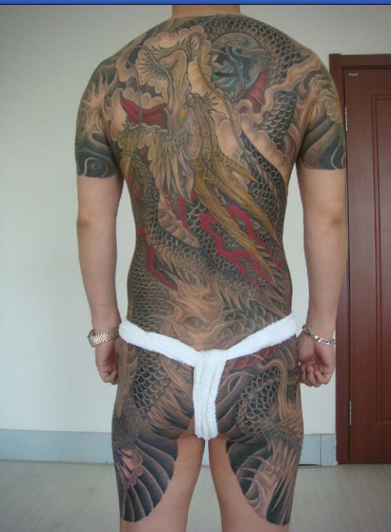 傅海林般若纹身手稿 傅海林龙头纹身手稿--花臂纹身手稿 花臂纹身图片