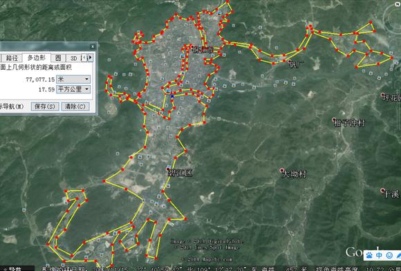 兴义市建区测量面积
