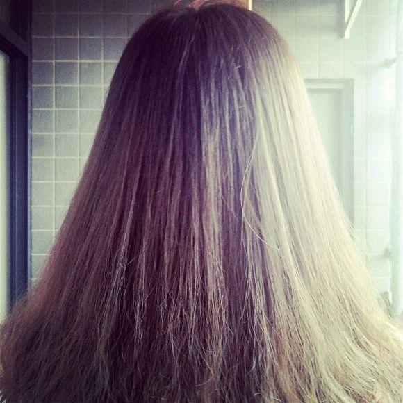本人油性烫染头发对比97图片