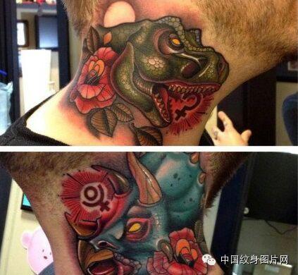 那些脖子上的纹身 纹身吧 百度贴吧图片