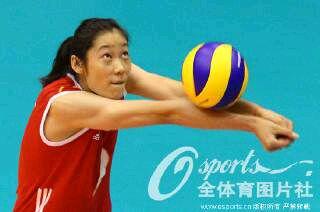 朱婷,中国国家女子排球队队员,1994年11月出生,主攻位置,摸高清图片