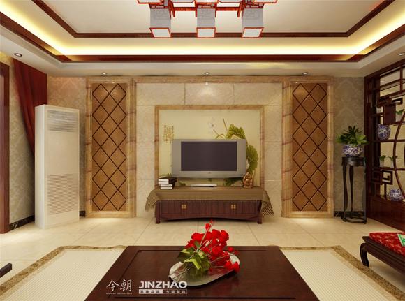 140平米小区名称:尚水苑建筑年代:2013年装修风格:新中式风格高清图片