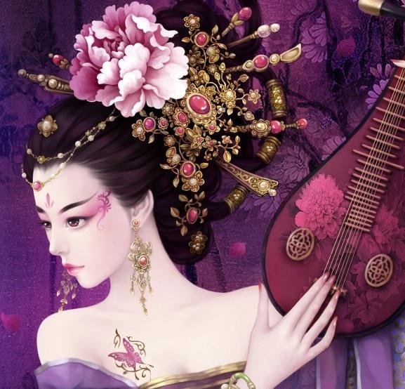 【发图】手绘古装美女图片