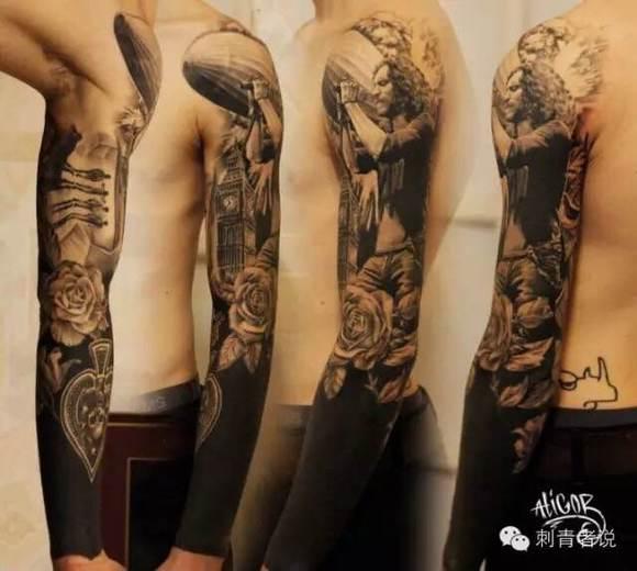 黑臂纹身 万能纹身遮盖 喜欢的可以收藏
