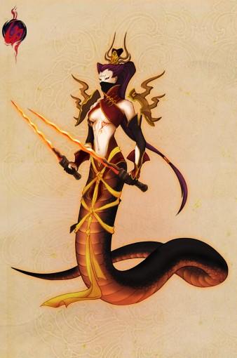 上半身是美女的蛇妖 会呼人名