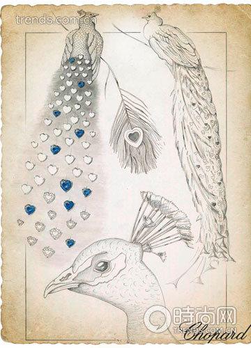 首饰设计手稿素描图 套件首饰手稿素描图 婚纱设计手稿素描图 珠宝首