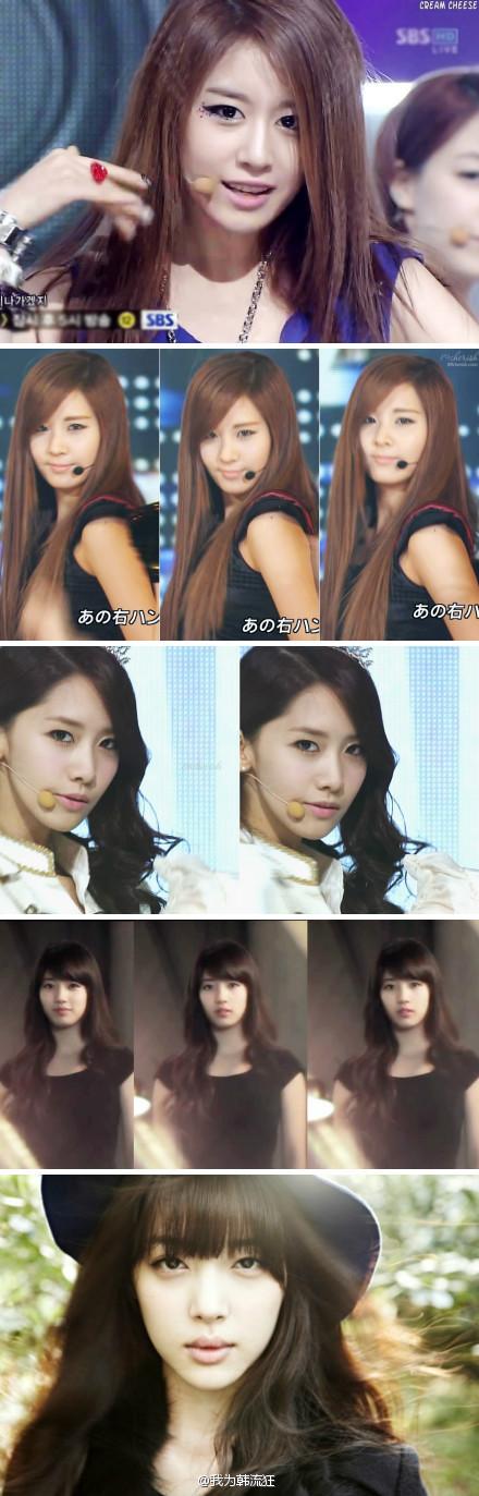 120301★调查★韩国女子组合中最漂亮的标准美女脸型