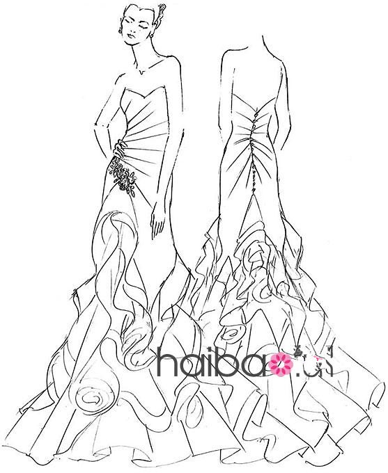 婚纱设计师的手稿,绝美婚纱,你喜欢么图片