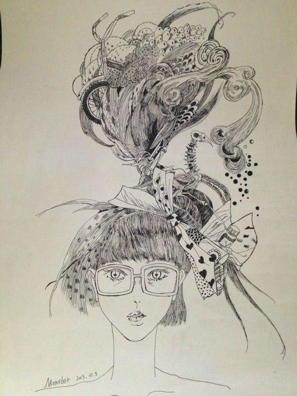 简笔画 手绘 素描图片