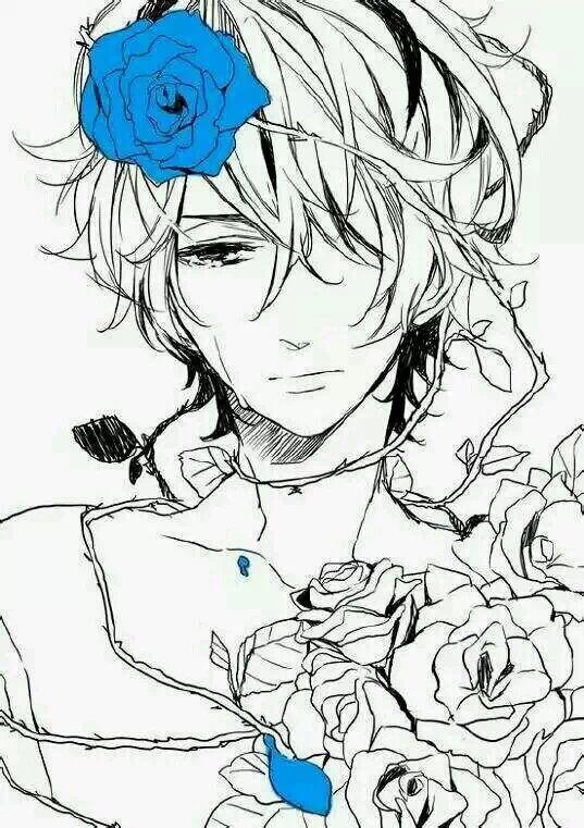 【求图】求男生吻花或者拿花图片 动漫男头吧
