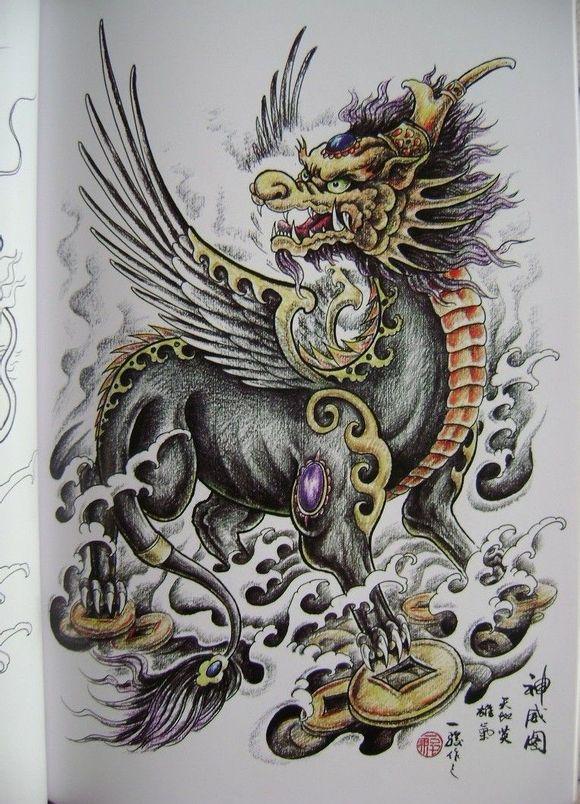 麒麟纹身素材_荆州沙市纹身吧图片