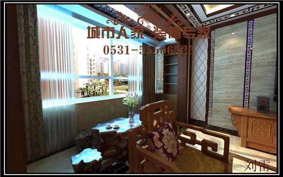 中式风格是以宫廷建筑为代表的中国古典建筑的室内装饰设高清图片
