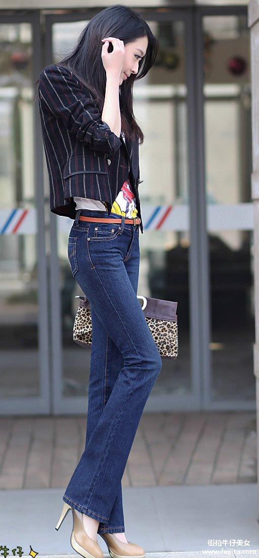 长腿牛仔美女的诱惑 牛仔裤的诱惑吧