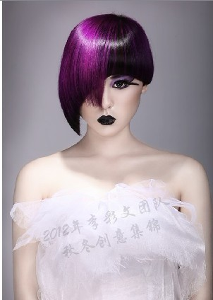 李彩文北京沙宣美容美发学校最新美发作品图片
