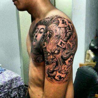 想纹一个人一念成魔一念成佛的寓意纹身,求给推荐纹身图片