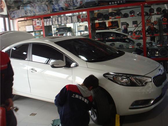 西安汽车音响改装上尚汽车音响改装---起亚k3音响图片