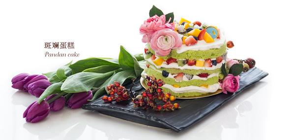 嘟菲斑斓蛋糕选用新鲜斑斓叶,经过榨汁过滤,悉心烘焙,制作出松软又图片