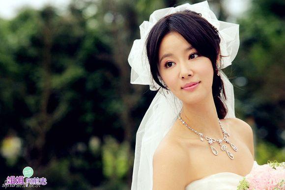 林心如汪东城婚纱照图片